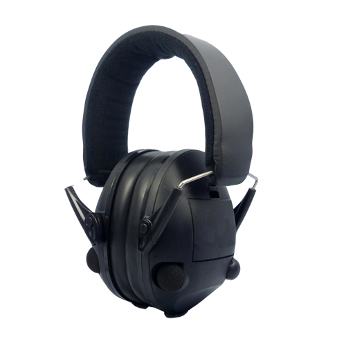 Low profile electronic sound proof ear muff
