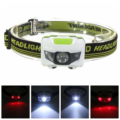 Super Bright Lamp 3 Modes High Power Head Lamp warning Led Camping Rechargeable Headlamp
